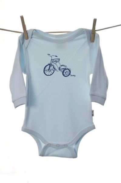 Snooky Long Sleeve Body Suit with Blue Trike Motif