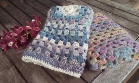 Multi Coloured, 100% Wool Bassinet Blankets
