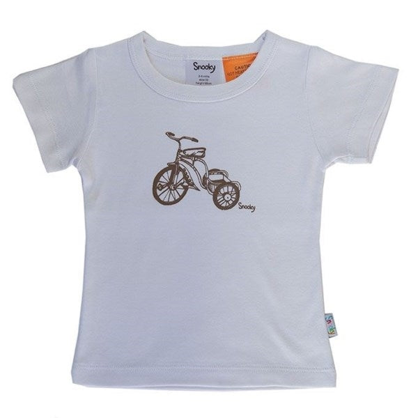 Snooky T shirt With Choc Trike Motif White/Pink/Blue