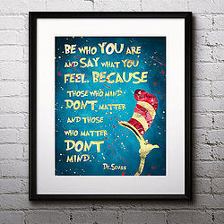 Dr Suess. Be Who You Are