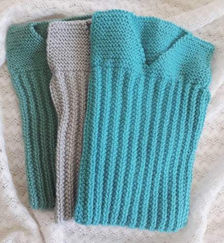 Newborn to  3mths Handknitted Singlets