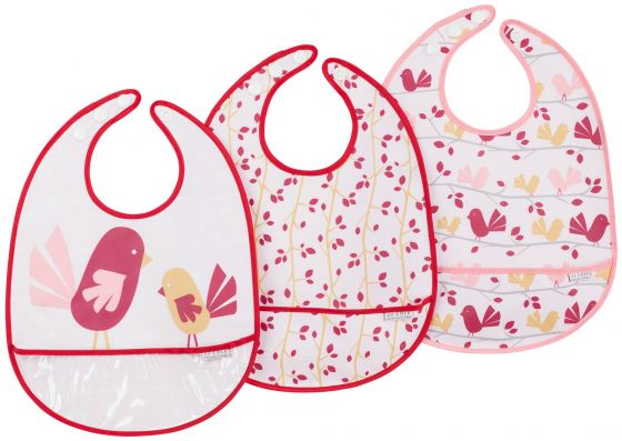 Chickadee 3 pack, Easy to Clean bibs