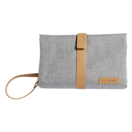 Changing Clutch  Heather Grey and Tan