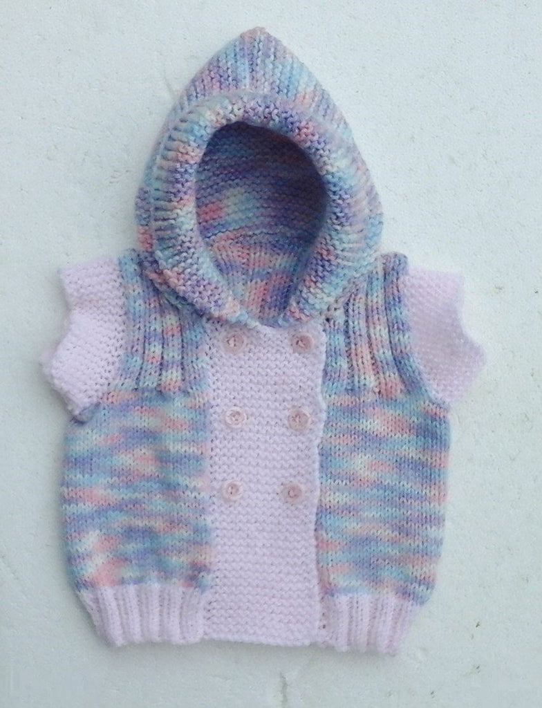 Handknitted Hooded Jacket 0-4mths