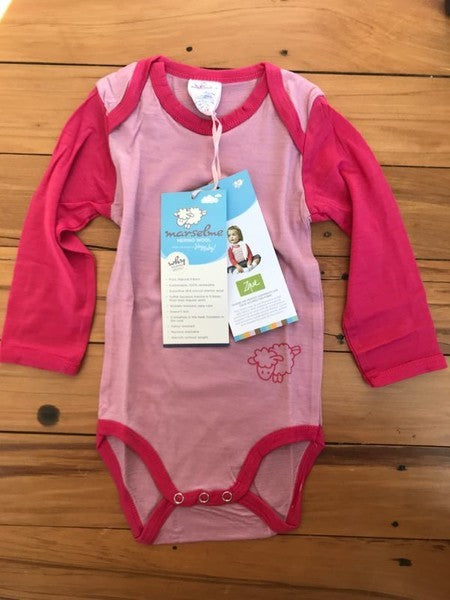 Marselme Merino Long Sleeve Onesie, 2 sizes