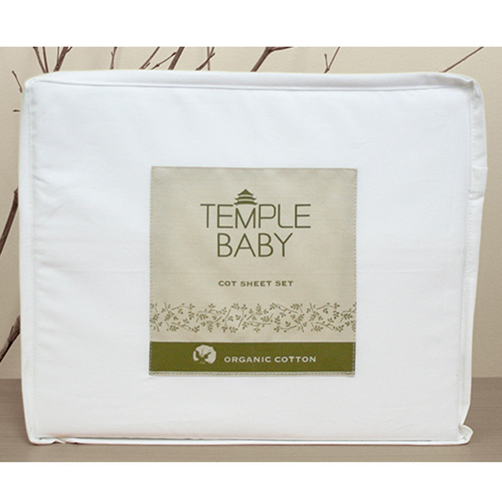Temple Baby Organic Cot Sheet
