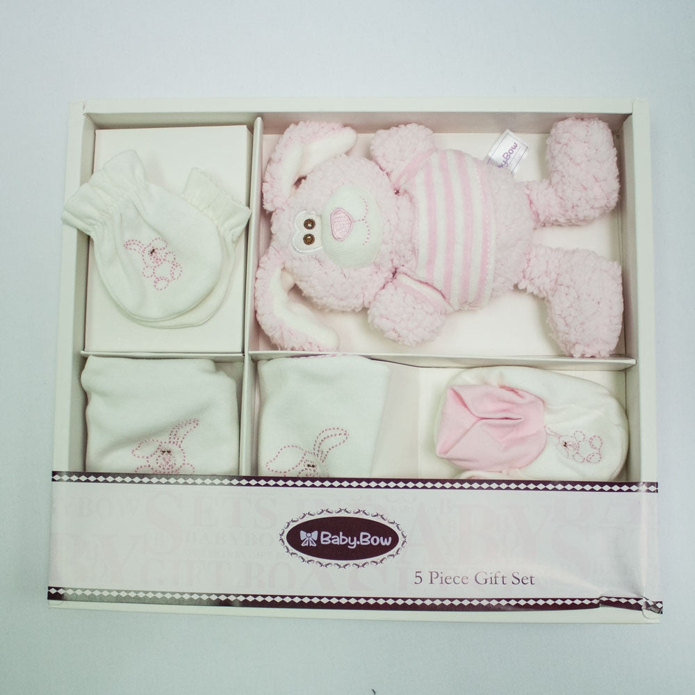 4 piece Pink Bunny Gift Set in box