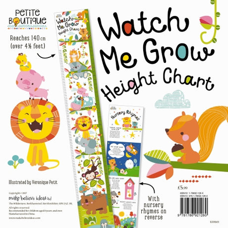 Watch Me Grow Height Chart Book
