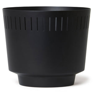"8.5"" Spun Planter, Matte Black"