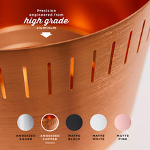 "8.5"" Spun Planter, Copper Anodized Aluminium"