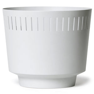 "8.5"" Spun Planter, Matte White"