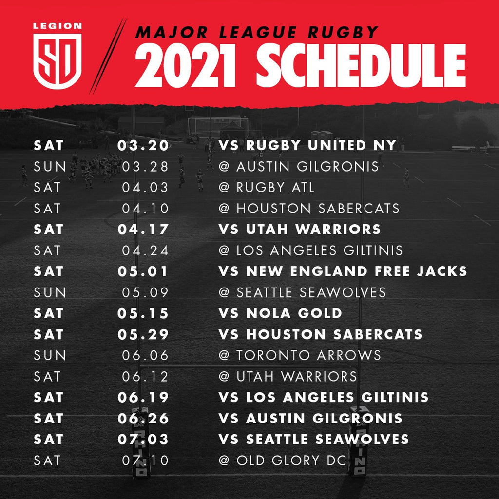 Update: Major League Rugby 2021 season schedule