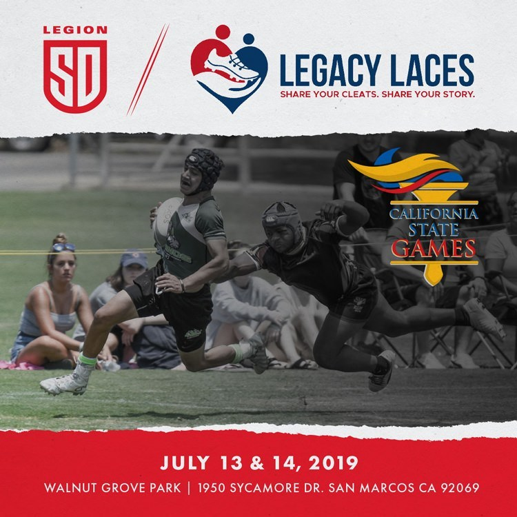 LEGION SET TO HOST LEGACY LACES AT THE CALIFORNIA STATE GAMES YOUTH RUGBY TOURNAMENT