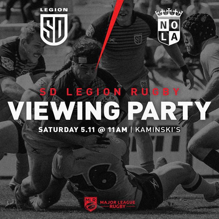 LEGION VS. NOLA GOLD OFFICIAL WATCH PARTY – KAMINSKI'S