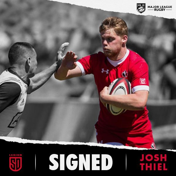 JOSH THIEL SIGNS WITH SAN DIEGO LEGION