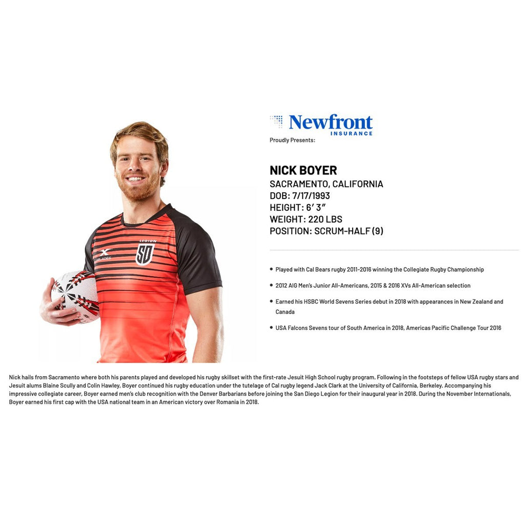 NEWFRONT INSURANCE PARTNERS WITH LEGION TO SUPPORT NICK BOYER