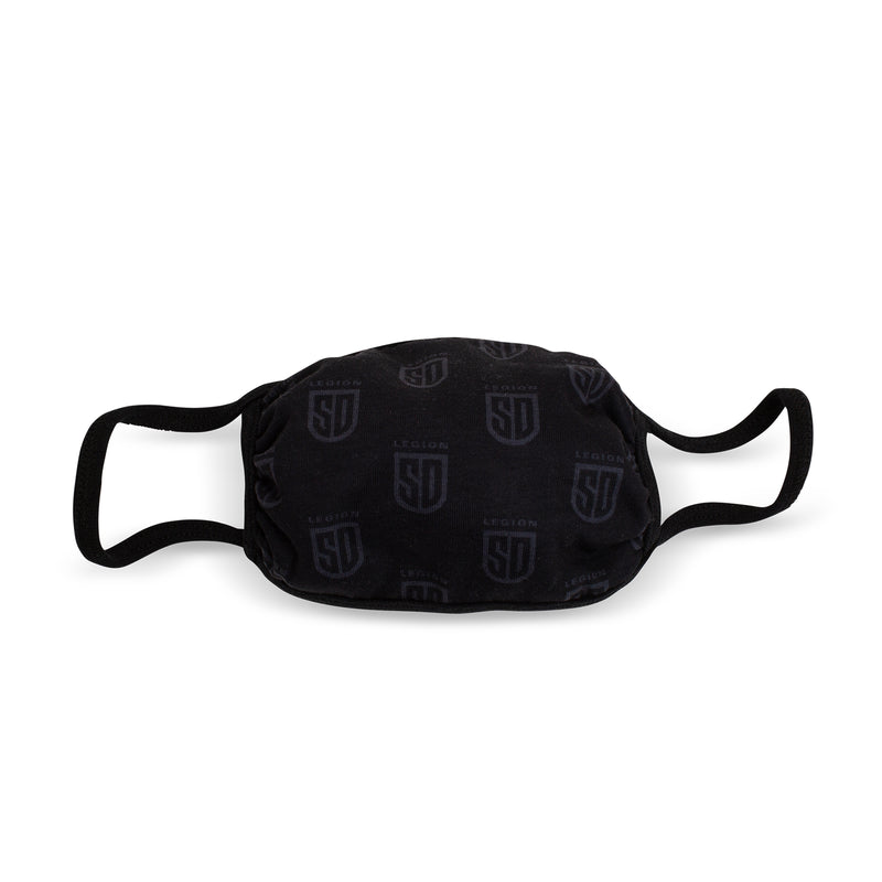 SD LEGION All Black Shield Face Mask