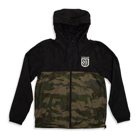 SD LEGION Camo-Black Windbreaker