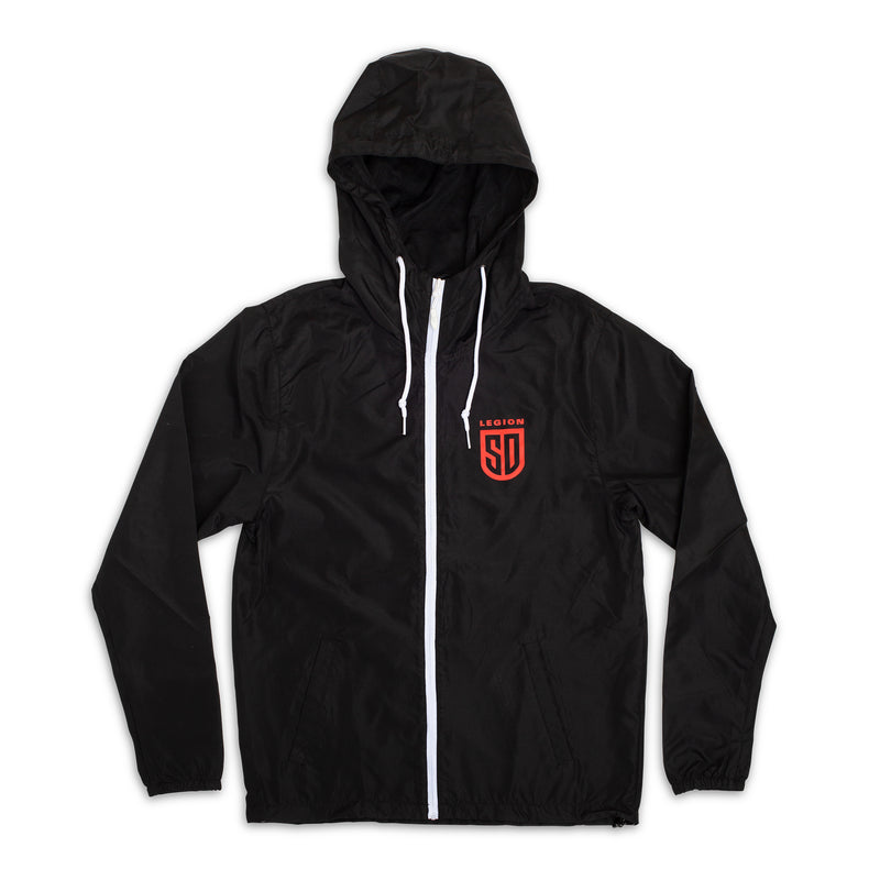 SD LEGION Black Windbreaker