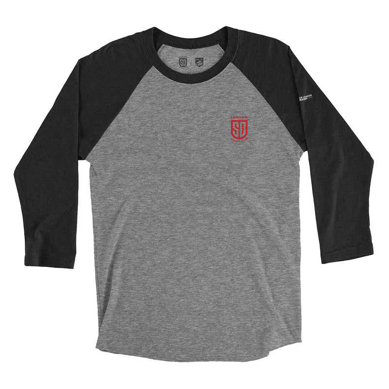 SD LEGION Shield T-Shirt- Raglan 3/4 Sleeve