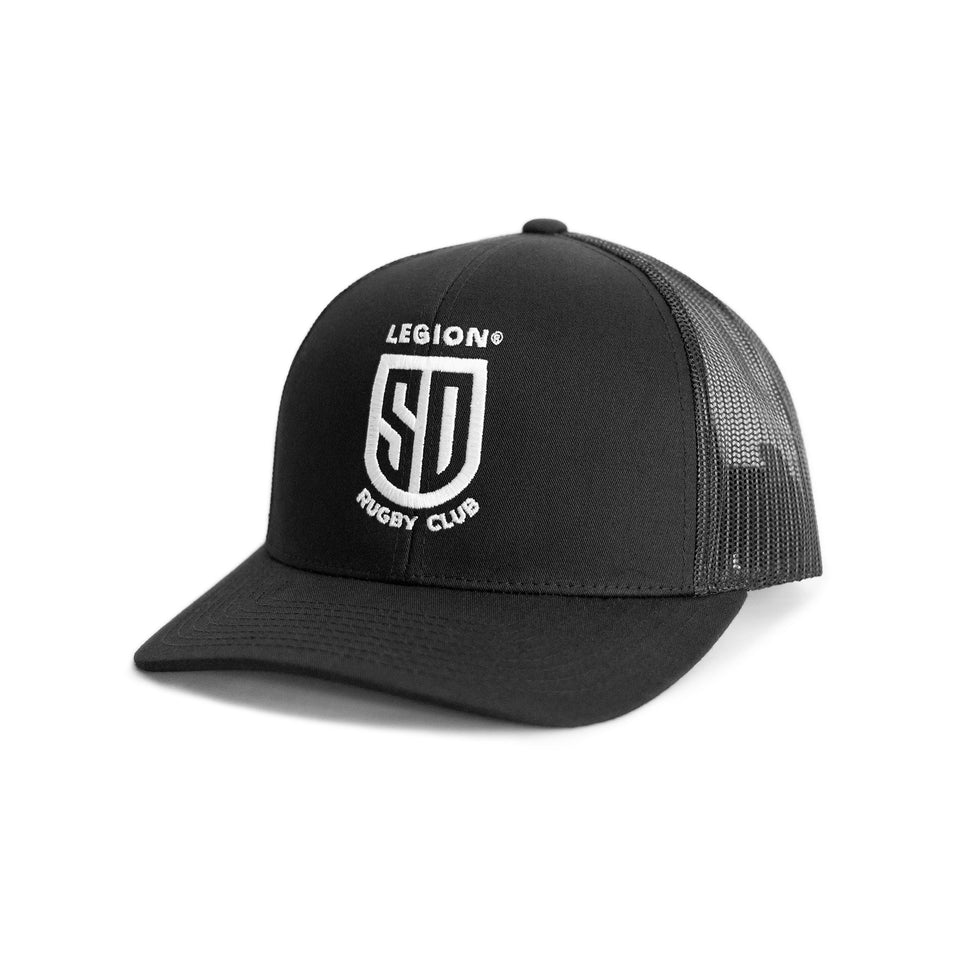 SD LEGION Mesh Hat - Black with White Logo