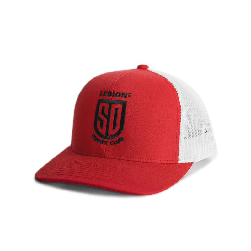 SD LEGION Mesh Hat - Red/White w/ Black Logo