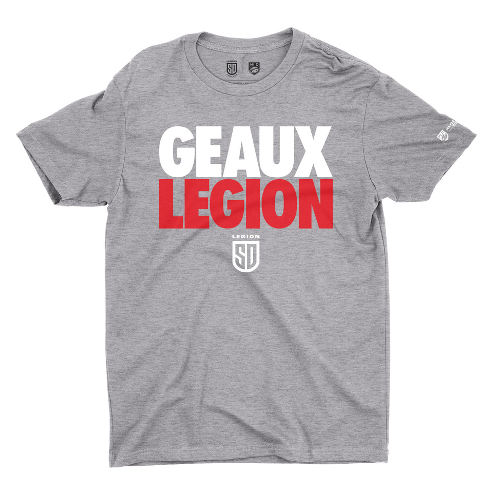 SD LEGION Geaux Legion T-Shirt - Gray Heather