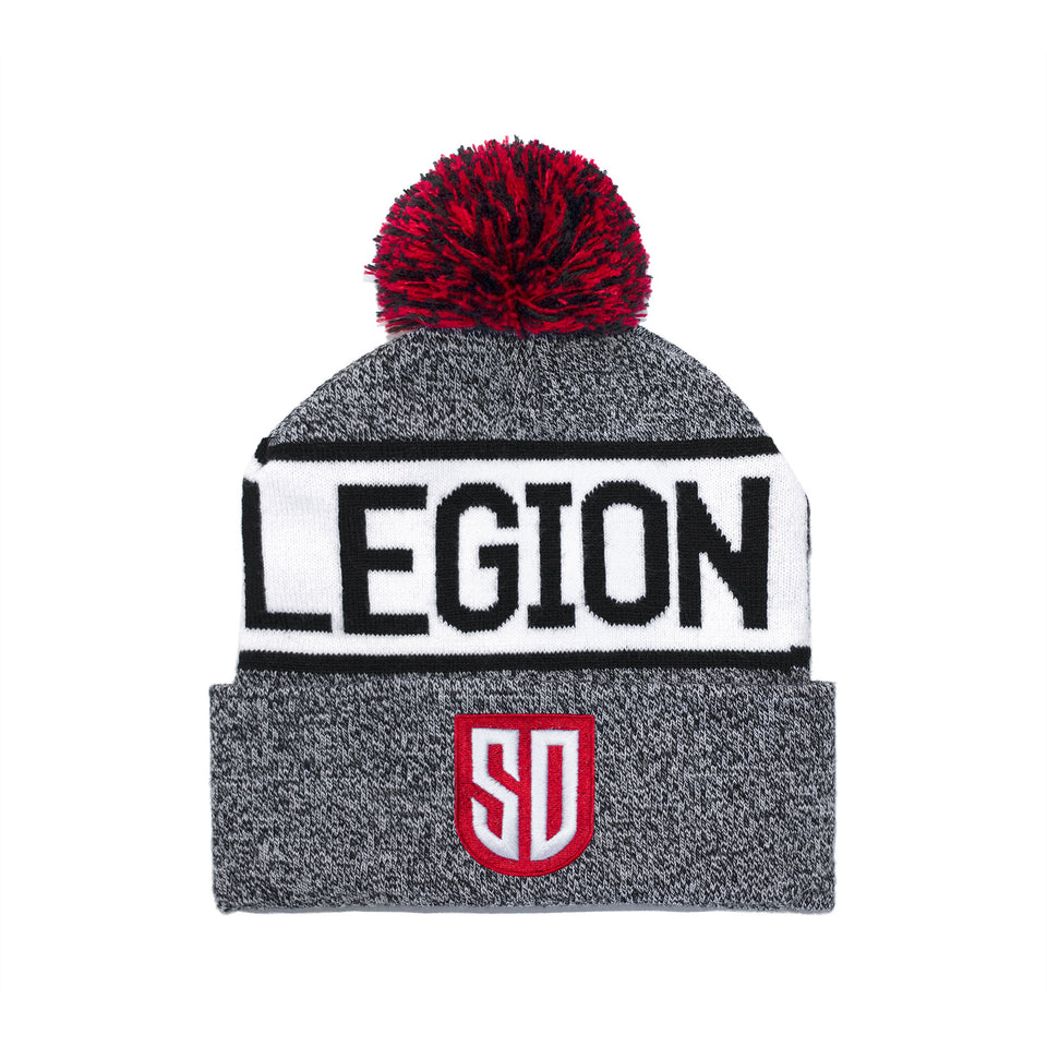 SD LEGION Beanie - Striped Pom