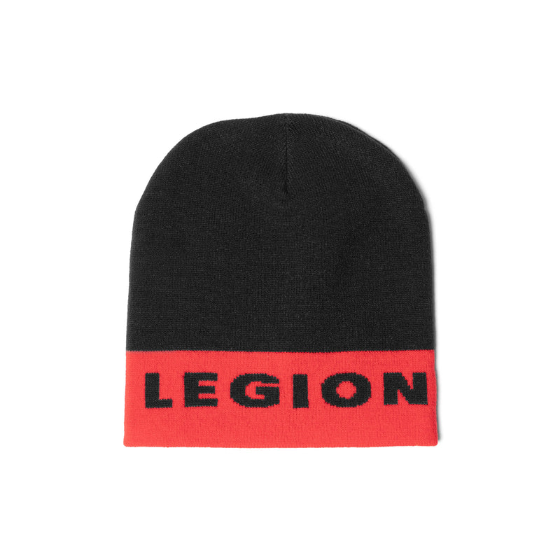 SD LEGION Beanie - Red/Black Skull