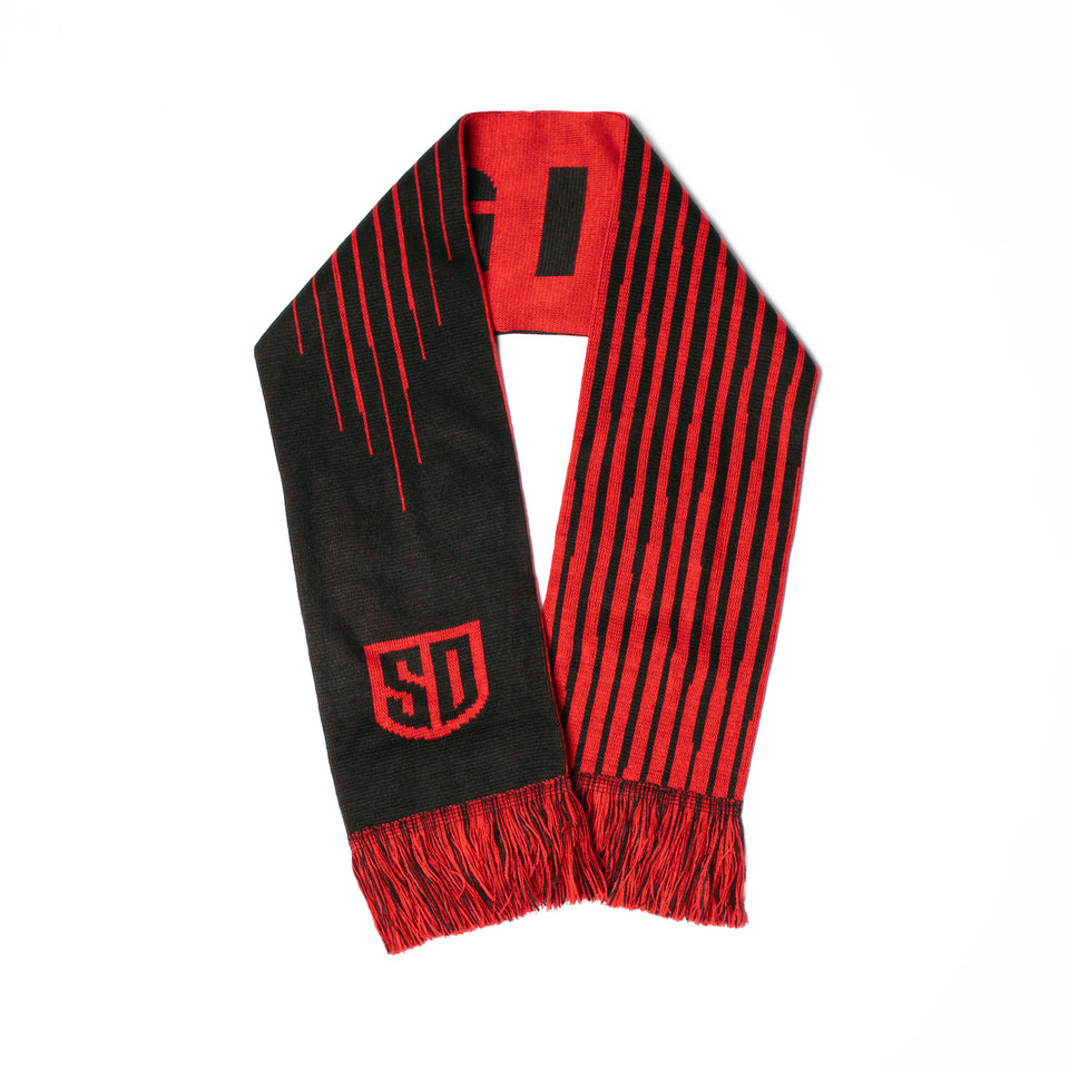 SD LEGION Black/Red Scarf