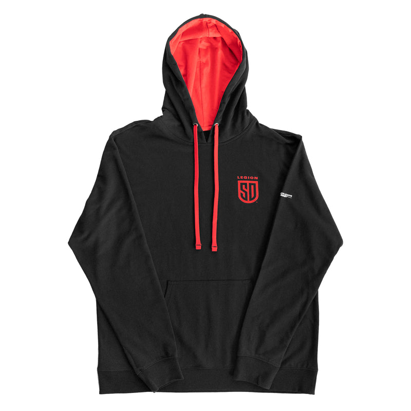 SD LEGION Shield Black & Red Hoodie