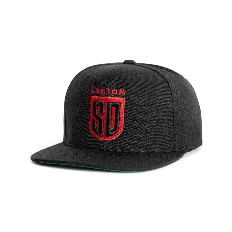 SD LEGION Shield Snapback - Black