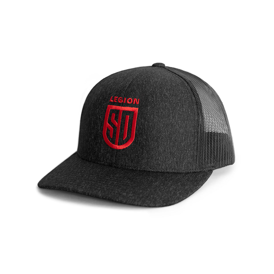 SD LEGION Mesh Hat - Black with Red Logo
