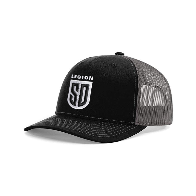 SD LEGION Mesh Hat - Black/White on Gray
