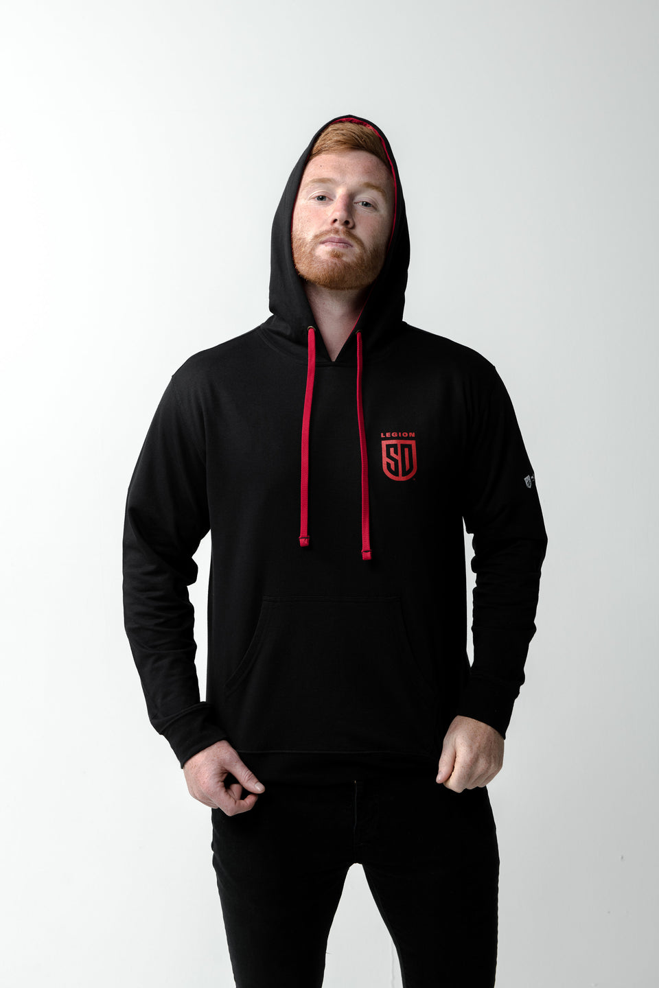 SD LEGION Men's Black & Red Sweatshirt