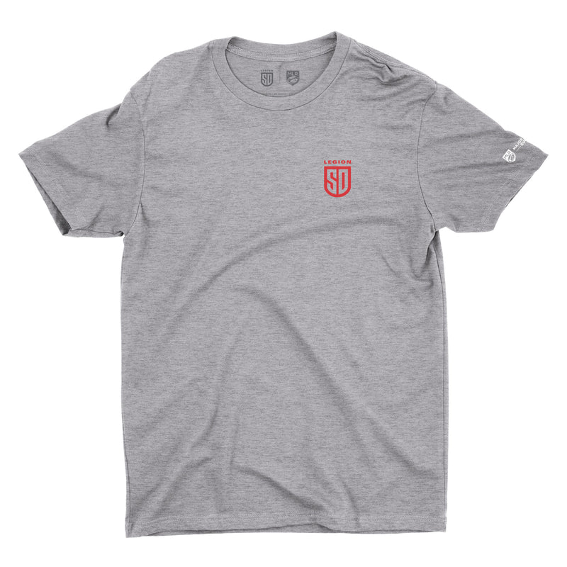 SD LEGION Shield T-Shirt - Heather Gray