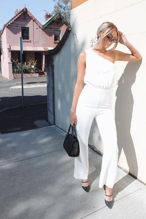 Load image into Gallery viewer, Aria Jumpsuit in White Playsuit/Pantsuit Kookai