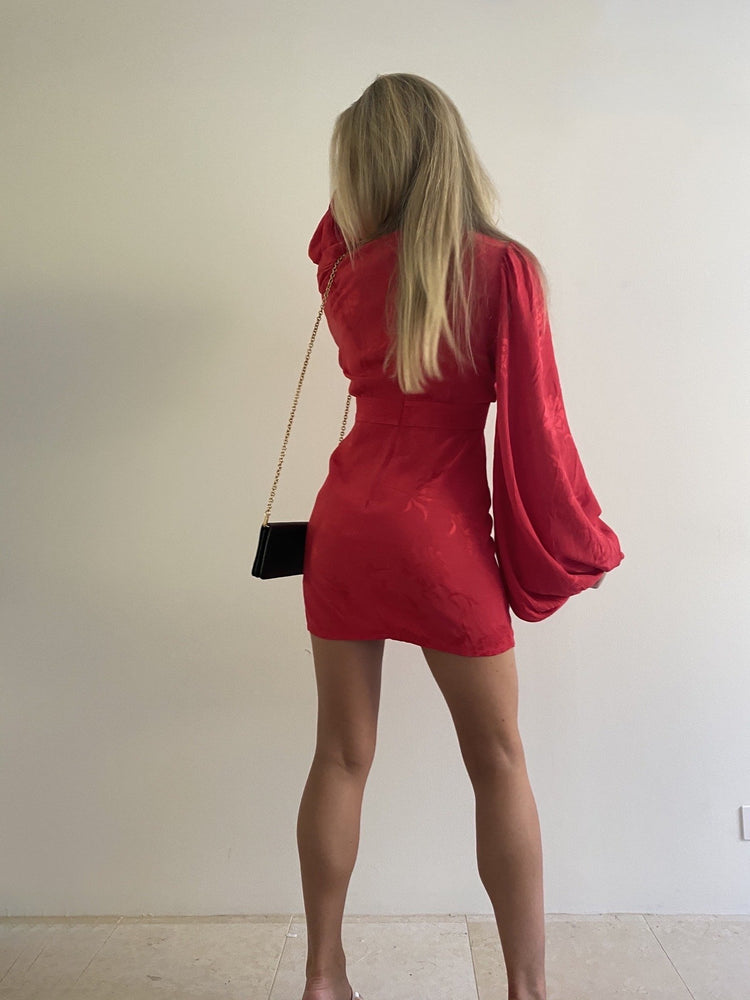 Load image into Gallery viewer, Isabella Dress in Red Dresses Rat & Boa