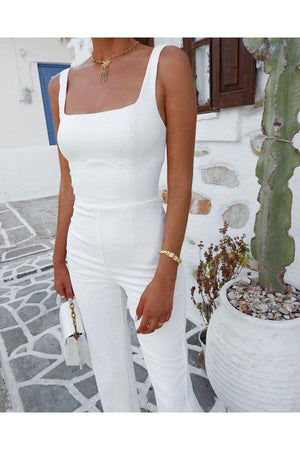Macey Jumpsuit in White Playsuit/Pantsuit Kookai