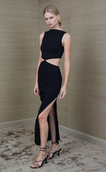 Reba Midi Dress in Black Dresses Bec & Bridge