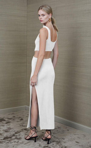 Reba Midi Dress in Ivory Dresses Bec & Bridge