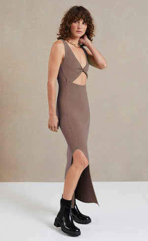 Riviera Midi Dress in Silt Dresses Bec & Bridge