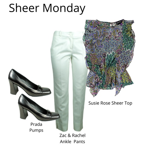 eKlozet Designer Consignment | Outfits of the Week Sheer Monday