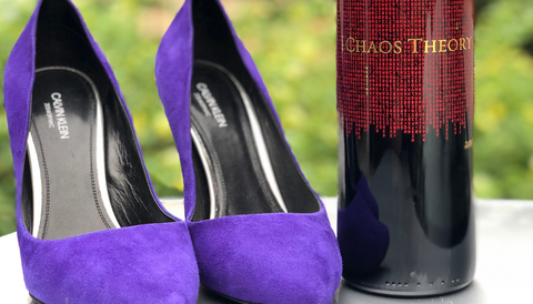 Wine IsShoes - Calvin Klein Heels and Brown Estate Wine