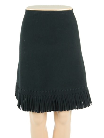 ALAIA Knee Length Wool Skirt w/ Tags- eKlozet Luxury Consignment Boutique