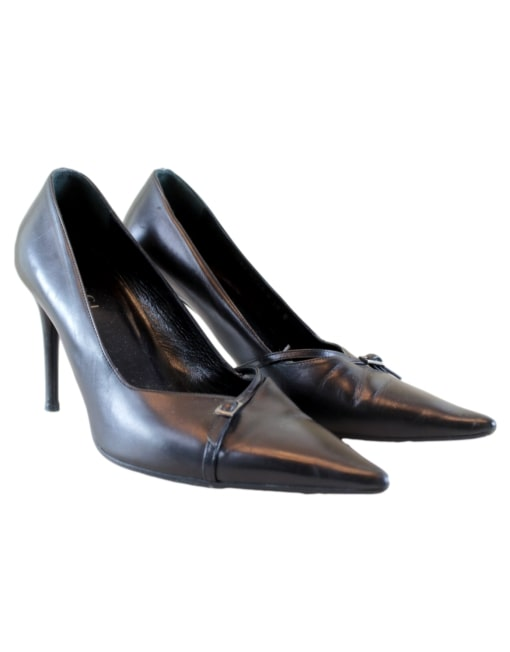 Gucci Pointed Toe Pumps-Front Side - eKlozet Designer Consignment