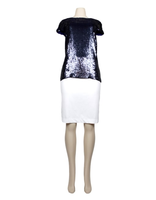 THOERY Short Sleeve Sequin Top-eKlozet Luxury Consignment Boutique