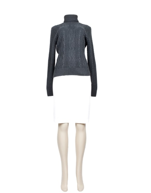 JEANNE PIERRE Ribbed Turtleneck Sweater-Front - eKlozet Luxury Consignment