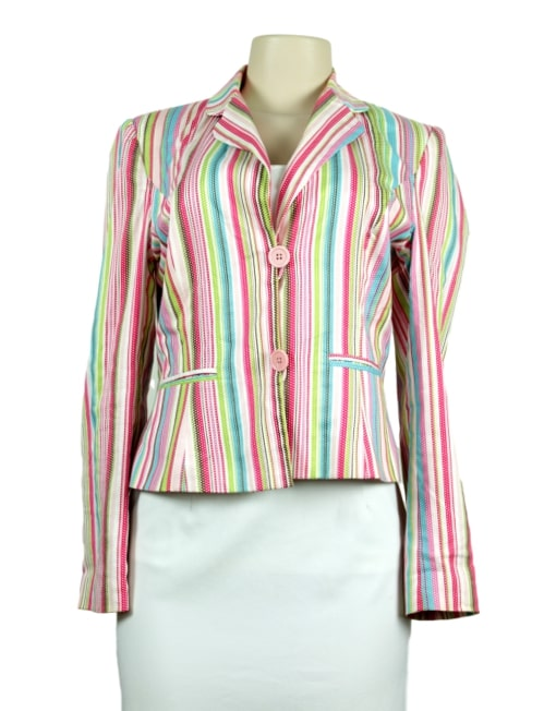 Will Smith Striped Blazer Front- Front- eKlozet Luxury Consignment Boutique