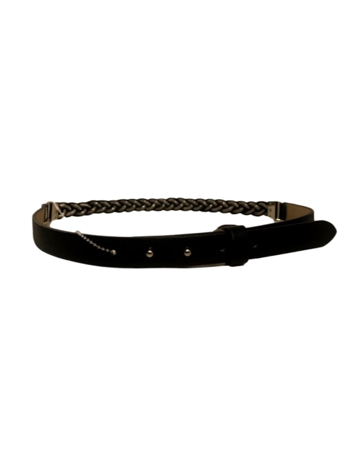 Braided Jeweled Belt- Flatlay Front- eKlozet Luxury Consignment